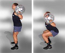 Упражнения для ног Приседания со штангой